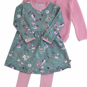 Enfant terrible Sweatkleid Blumendruck salbei rose - Enfant Terrible