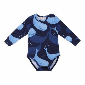 Langarm Baby Body *Smiling Whales* GOTS Bio | Walkiddy - Walkiddy