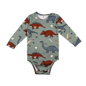 Langarm Baby Body *Funny Dinosaurs* GOTS Bio | Walkiddy - Walkiddy