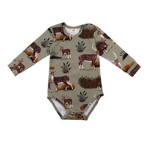 Langarm Baby Body *Deer Family* GOTS Bio   Walkiddy - Walkiddy