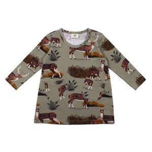 Jersey Kleid *Deer Family* GOTS Bio Baumwolle | Walkiddy - Walkiddy
