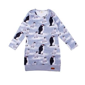 "Kleid Langarm Walkiddy ""Pinguine"" grau  - Walkiddy"