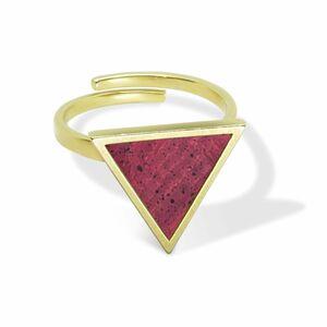 Triangle Ring Gold mit Kork | Verstellbarer Ring Dreieck 18k vergoldet - KAALEE jewelry