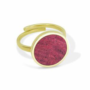 Circle Ring Gold mit Kork   Verstellbarer Ring Rund 18k vergoldet - KAALEE jewelry