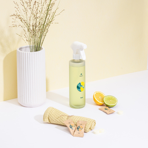 Klaeny Badreiniger Set - 6 Reinigungsmitteltabs + recycelte Design Flasche - Klaeny