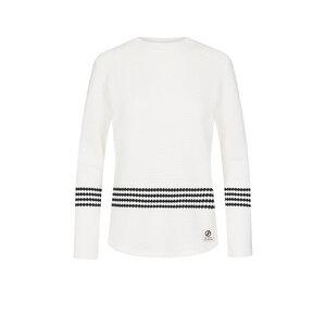 Wavestripe Pullover Damen Weiß - bleed
