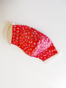 SEIFERT Mundschutzmaske rot mit Blumen - SEIFERT