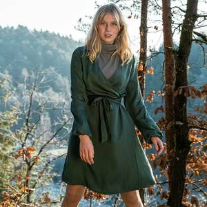 Forest Fairy Kleid Lyocell (TENCEL) Grün - bleed