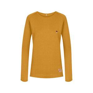 Fine Ecoknit Pullover Damen Gelb - bleed