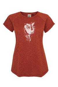 Frauen Raglan Slub Shirt mit Eule aus Biobaumwolle Hergestellt in Portugal - ilovemixtapes
