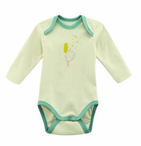 Set 2 Teile Doppelpack Baby Body Langarm Living Crafts Tierwelt orange natur  - Living Crafts