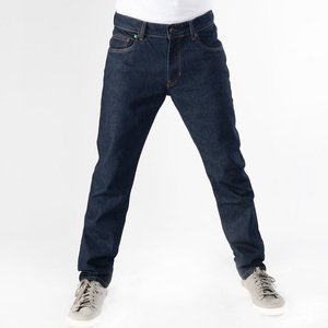 REGULAR NAVY 100, dunkelblaue basic Jeans  aus 100% Bio-Baumwolle ohne Elasthan - fairjeans