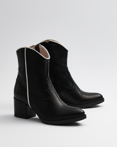 Cowboy Black & White - Stiefel schwarzweiß Damen  - Addition Sustainable Apparel