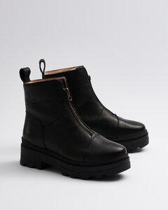 Zip Black - Stiefel mit Reisverschluss schwarz Damen  - Addition Sustainable Apparel