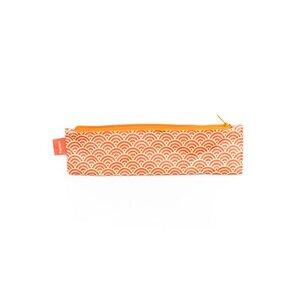 Mini-Mäppchen - Halbkreise Orange Rot - paprcuts
