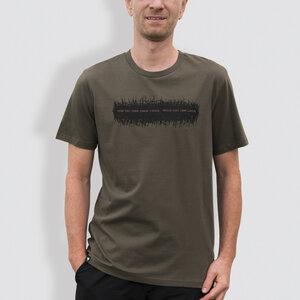 """Herren T-Shirt, """"Kein Tag ohne einen Strich"""", Khaki - little kiwi"""