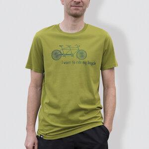 """Herren T-Shirt, """"Tandem"""", Moss Green - little kiwi"""