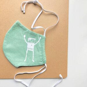 Gesichtsmaske aus Bio-Baumwolle, am Hinterkopf oder an den Ohren zu tragen - vonpfauhausen