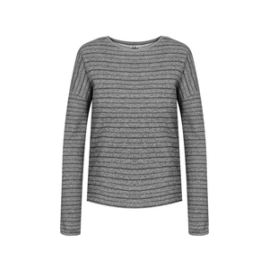 Striped Sweater Hanf Damen Grau - bleed
