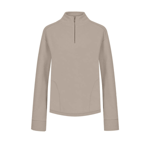 Soft Knitted Sweater Damen Taupe - bleed
