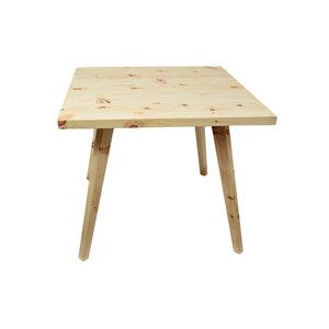 Eleganter quadratischer Massivholztisch 'Heidi' in Zirbe mit abnehmbaren Beinen - Handarbeit aus Österreich Zirbe - 4betterdays