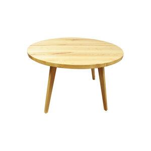 Eleganter runder  Massivholztisch 'Peter' in Braunesche mit abnehmbaren Beinen - Handarbeit aus Österreich - 4betterdays