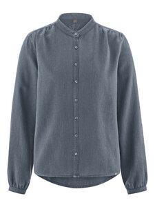 HempAge Damen Bluse mit Stehkragen Hanf/Bio-Baumwolle - HempAge