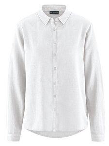HempAge Damen Langarm-Bluse Hanf/Bio-Baumwolle - HempAge