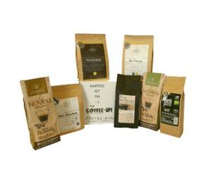 Entdeckerpaket Große Auswahl Kaffeesorten (ganze Bohne) - Coffee-Up!