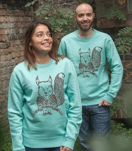 Ella Eichhorn / Squirrel - Fair Wear Unisex Sweater - Heather Mint - päfjes