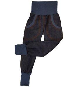 Mitwachs-Bio-Jeans darkblue mit Taschen  - Omilich