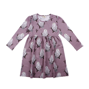 Walkiddy Skater Kleid Schneeeule purple lila - Walkiddy