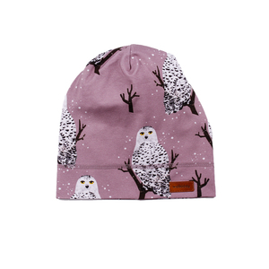 Walkiddy Beanie Mütze Schneeeule purple lila - Walkiddy