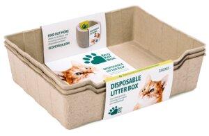 Kompostierbares 100% Natural Katzentoilette (3 St.) - Eco Pet Box