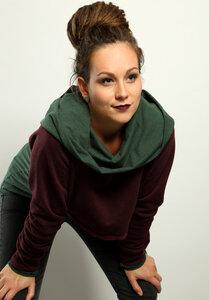 Hoodie + Kurzsweater Set Waldgeflüster - Die rote Zora