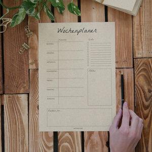 A4 Wochenplaner Blanko – 54 Blatt - Matabooks