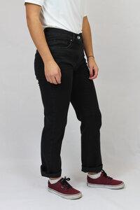 tiefschwarze gerade 5-Pocket Jeans in klassischer Paßform - bloomers