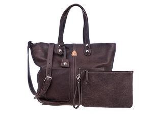 Große Einkaufstasche LORY  100% Made in Italy - Dunkelbraun - Ritagli di G