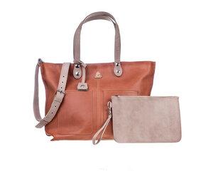Große Einkaufstasche LORY  100% Made in Italy - Hellbraun - Ritagli di G