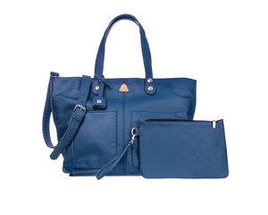 Große Einkaufstasche LORY  100% Made in Italy - Blau - Ritagli di G