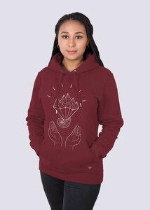 Mother Earth Damen Premium Hoodie aus Bio-Baumwolle - vis wear