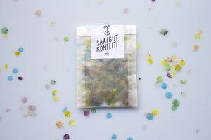 Saatgutkonfetti - kompostierbares Konfetti das Saatgut 24 heimischer (Wild-)Pflanzenarten enthält - Saatgutkonfetti