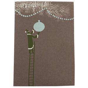 Weihnachtskarte Baumkugel - Salon Elfi