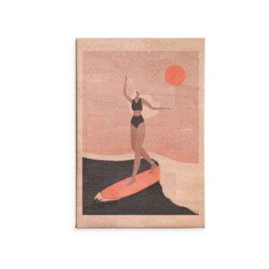 Kork Wandbild Into the surf / Kunstdruck - Corkando