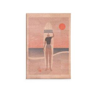 Kork Wandbild Red sky blue sea / Kunstdruck - Corkando