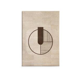 Kork Wandbild Intervall / Kunstdruck - Corkando