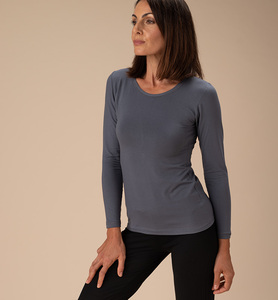 Damen-Shirt langarm aus Naturfaser - CasaGIN