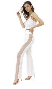"""Elegante Hose """"Lanasia"""" aus seidigem Lyozell Stoff mit weitem Bein und hoher Taille - LANASIA"""