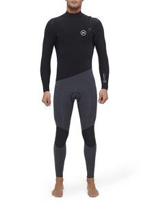 Herren Neoprenanzug Premium 4/3 ohne Reißverschluss, Fast Dry, schwarz-grau - Deeply