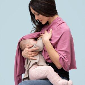 Poncho aus TENCEL für die Schwangerschaft, zum Stillen und danach - stillfashion
